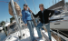 Karen Foster and Jim McBrayer aboard McBrayer's sailboat at the Royal Palm Yacht Basin in Dania Beach. The sailing duo, who met about four years ago as members of Sailing Singles of South Florida, fell for each other during a cruise to Key West.